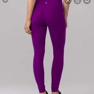 Wunder Under Purple Lululemon Leggings